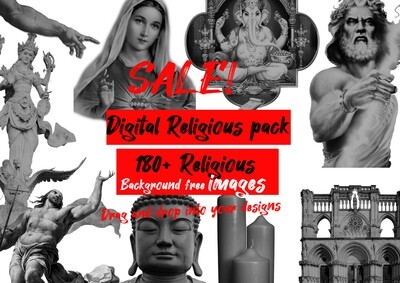 Digital religious pack over 180+ images