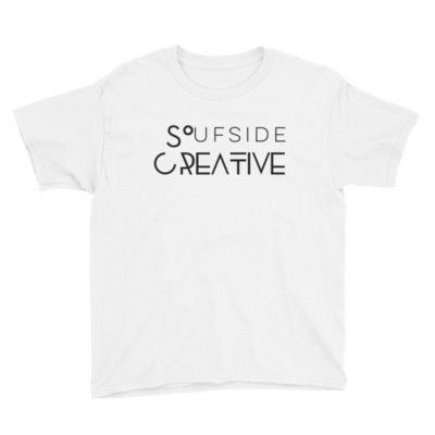Soufside Creative Youth Short Sleeve T-Shirt (Black Letters)
