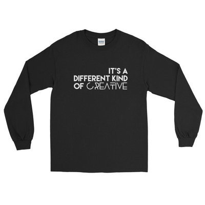 'It's a Different Kind...' Long Sleeve T-Shirt (Black)