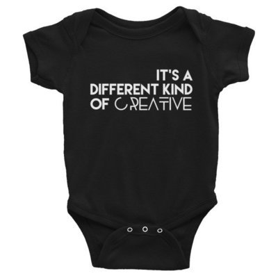 'It's a Different Kind...' Infant Bodysuit (Black)