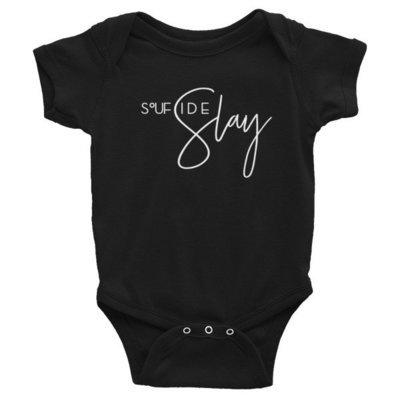 'Soufside Slay' Infant Bodysuit (Black)