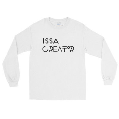 """Issa Creator"" Long Sleeve T-Shirt (White)"