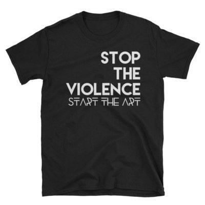 """Stop the Violence..."" Short-Sleeve Unisex T-Shirt (Black)"