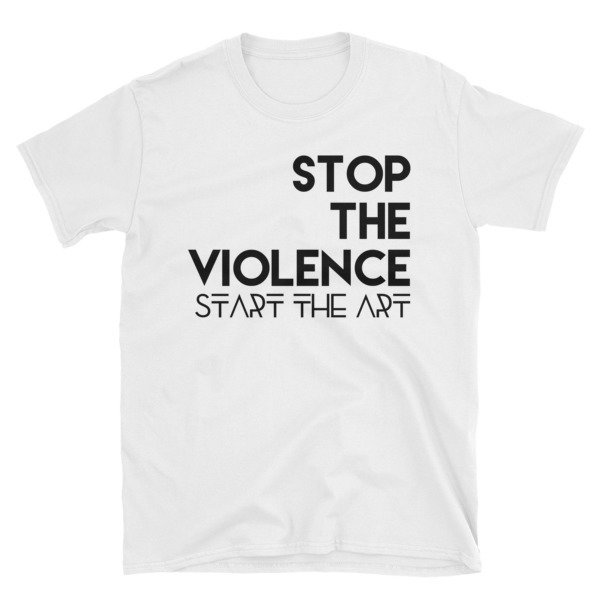 """Stop the Violence..."" Short-Sleeve Unisex T-Shirt (White)"