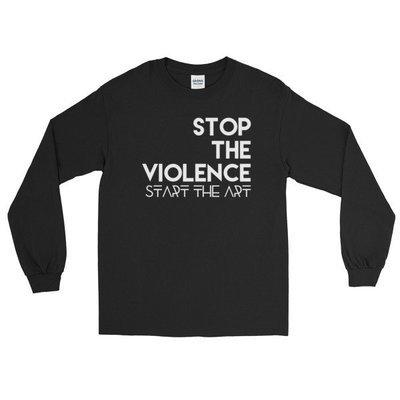 """Stop the Violence..."" Long Sleeve T-Shirt (Black)"