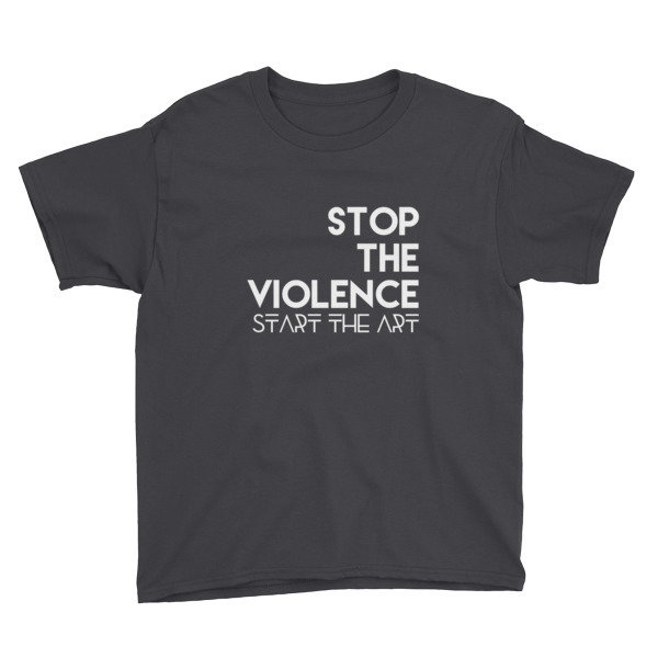 """Stop the Violence..."" Youth Short Sleeve T-Shirt (Black)"