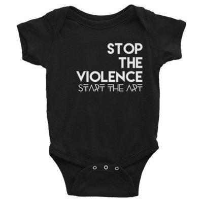 """Stop the Violence..."" Infant Bodysuit (Black)"