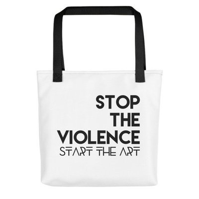 """Stop the Violence..."" Tote bag (Black)"