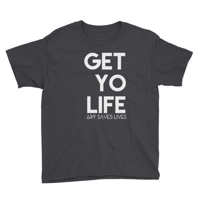"""Get Yo Life..."" Youth Short Sleeve T-Shirt (Black)"