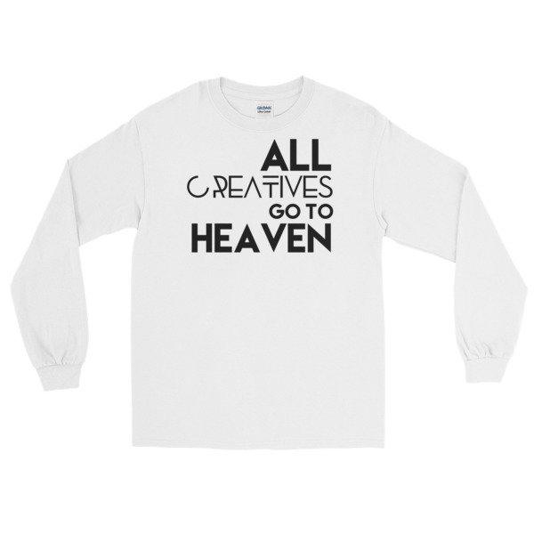 'All Creatives Go...' Long Sleeve T-Shirt (white)