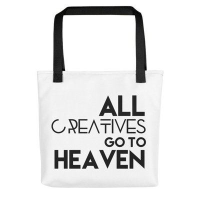 'All Creatives Go...' Tote bag