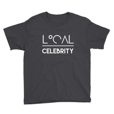 'Local over Celeb...' Youth Short Sleeve T-Shirt