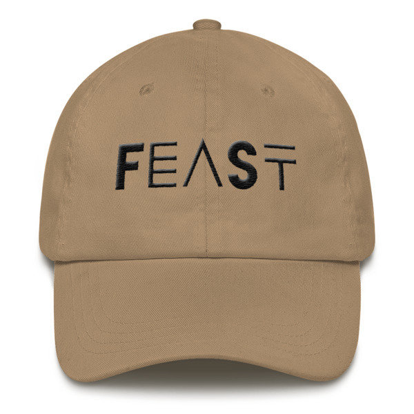 'FEAST' Dad hat (Black Letters)