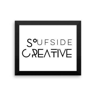 'Soufside Creative' Framed poster