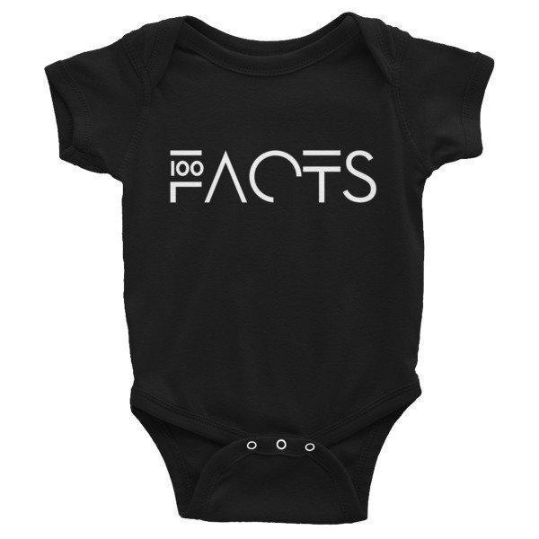 ' Facts ' Infant Bodysuit ( Black )