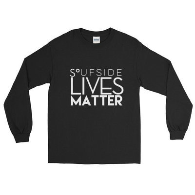 ' SLM ' Long Sleeve T-Shirt ( Black )