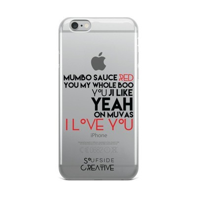 'On Muvas 143' Transparent iPhone Case