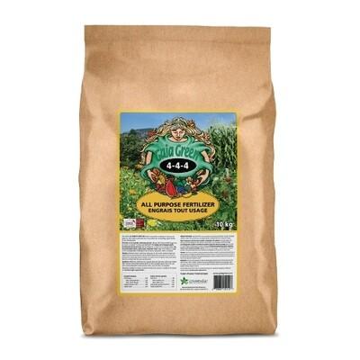 Gaia Green 4-4-4 Certified Organic Fertilizer 10kg bag