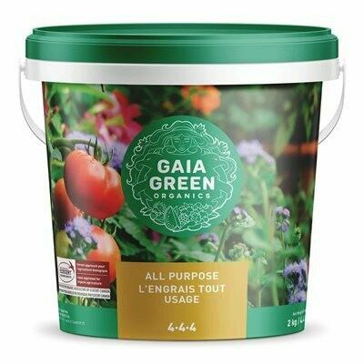 Gaia Green 4-4-4 Certified Organic Fertilizer 2kg pail