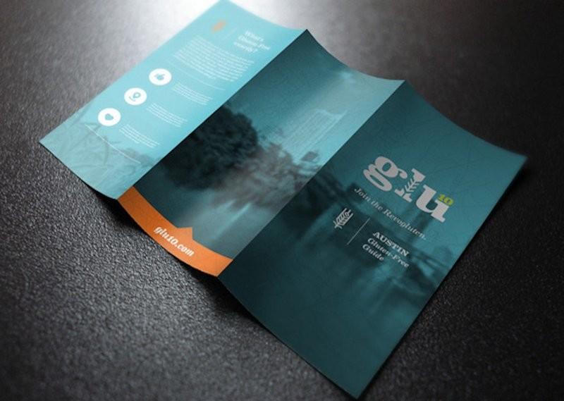 Brochures/Menus - Half Page - Folded - 8.5