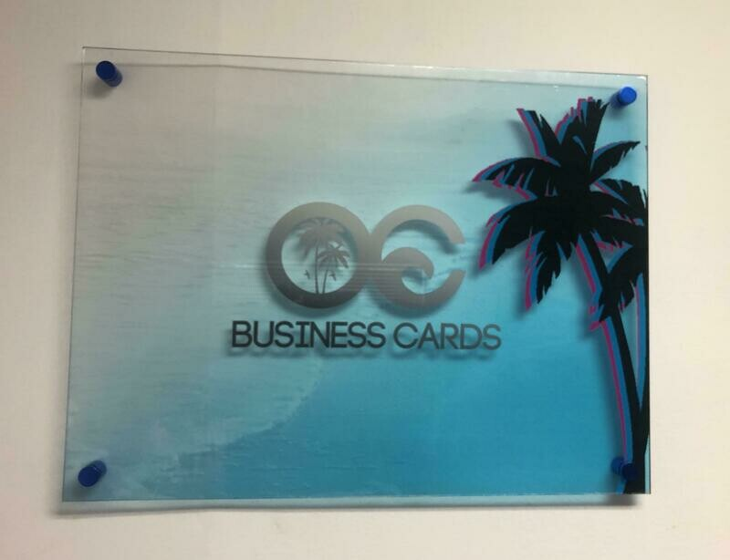 """1/4"""" Clear Acrylic Signs with White Ink"""