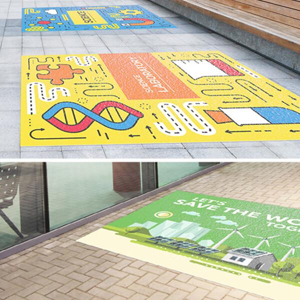 6mil - Aluminum Floor Graphics