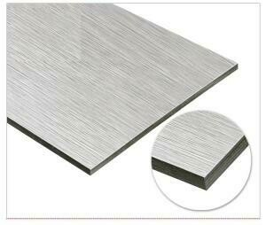 3mm Brushed Silver Aluminum Sandwich Board