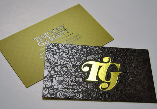 14pt Uncoated Cards w/ Hot Foil