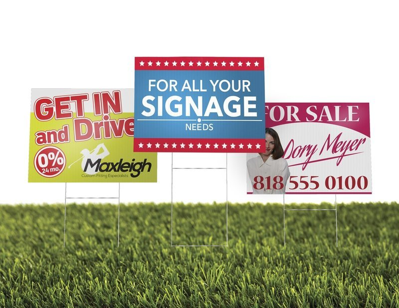 4mm - Corrugated Plastic with Optional Stands (Yard Signs)