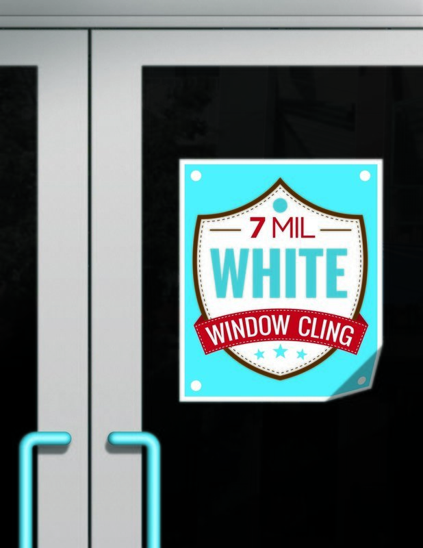 7mil - White Window Cling