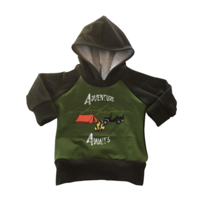 Hoodie 3/12 months - Grow with me, adventure