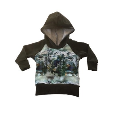 Hoodie 3/12 months - Grow with me, animals forest