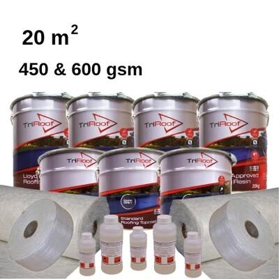 20m2 TriRoof Premium Fibreglass Roofing Kits