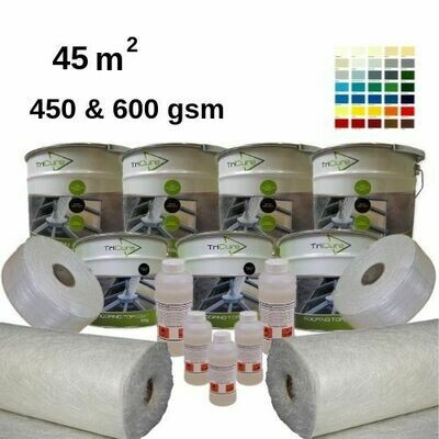 45m2 TriCure Colour Standard Fibreglass Roofing Kits