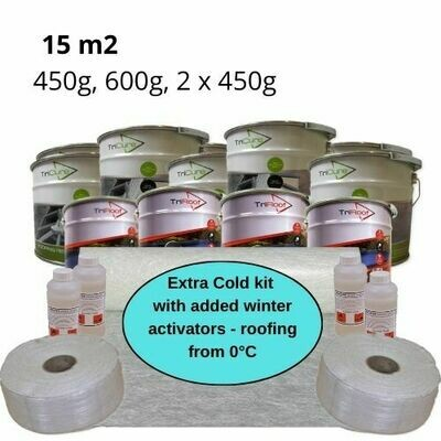 15m2 Extra Cold Winter Fibreglass Roofing Kits