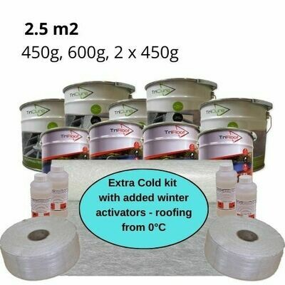 2.5m2 Extra Cold Winter Fibreglass Roofing Kits