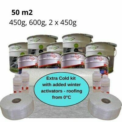 50m2 Extra Cold Winter Fibreglass Roofing Kits