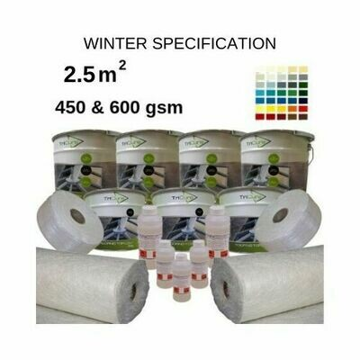 2.5m2 TriCure Colour Standard  Fibreglass Roofing Kits