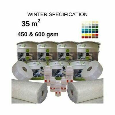 35m2 TriCure Colour Standard  Fibreglass Roofing Kits