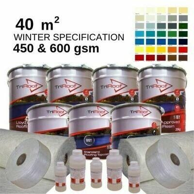 40m2 TriRoof Colour Premium  Fibreglass Roofing Kits