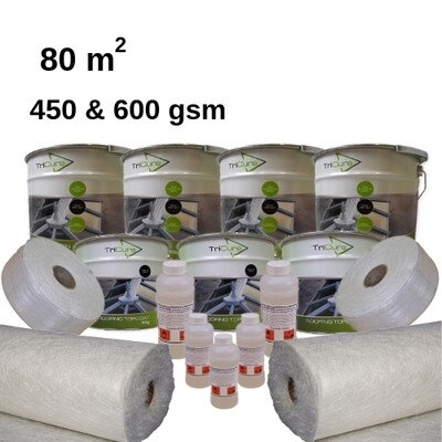 80m2 TriCure Standard Fibreglass Roofing Kits