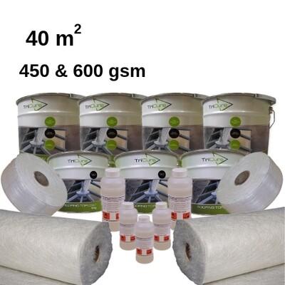 40m2  TriCure Standard Fibreglass Roofing Kits
