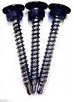 Self sealing 35mm Hex fasteners for metal edge trims
