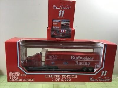 NDC129 Bill Elliott Budweiser Hauler w/car