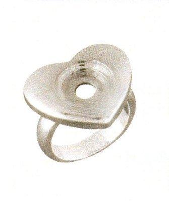 LD8001 HEART RING SZ 5