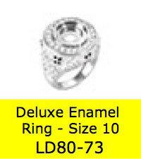LD8073 DELUX ENAMEL RING SZ 10