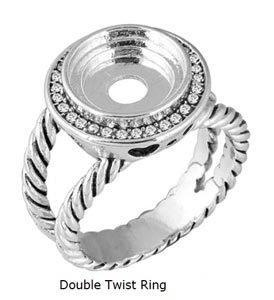 LD8096 DOUBLE TWIST RING SZ 10