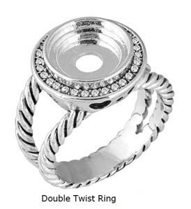 LD8096 DOUBLE TWIST RING SZ 10