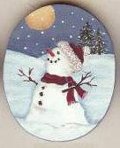 SNOWMAN MOON PIN