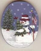 SNOWMAN FLAG PIN